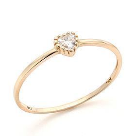 14K / 18K金戒指与心脏图标