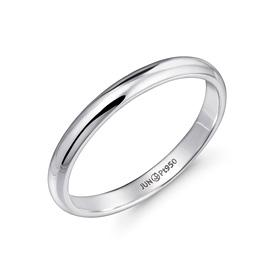 铂[的Pt950]3.8克简洁主机铂环
