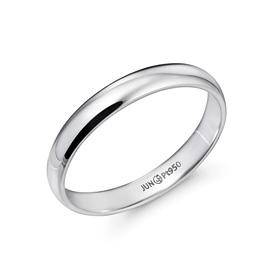 铂[的Pt950]3.8克简洁baneng铂环