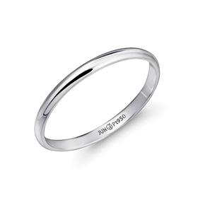 铂[的Pt950]2克简洁主机铂环