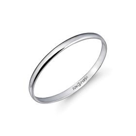 铂[的Pt950]1克简洁主机铂环
