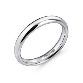 铂[的Pt950]3.0毫米体积不丢一个铂环