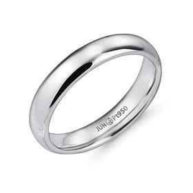 铂[的Pt950]4.0毫米体积不丢一个铂环