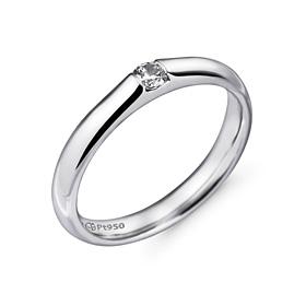 铂[的Pt950]3.0毫米1单位体积金刚石铂环应该推出