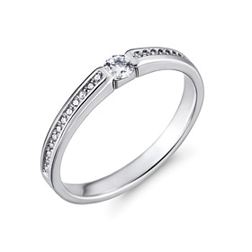 铂[的的Pt950]佛罗伦萨第1部分[现代]钻石铂环