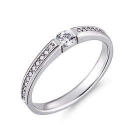 铂[的的Pt950]佛罗伦萨3份铂环