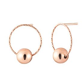 14K颗颗粉金球耳环[右侧出口]