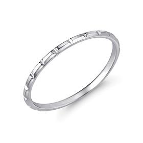 铂金[理想Pt950]宽条铂金戒指