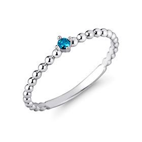 白金[na Pt950]蓝色泡蓝钻石白金戒指