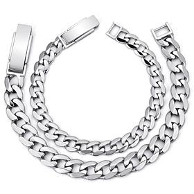 铂金[不是Pt950]扁圆形手链铂金手链[男人,女人一对价格]