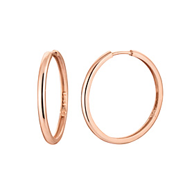 14K / 18K扁币(小)耳环[三个家庭1]