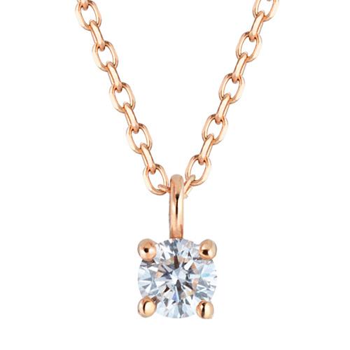 [第1件部分情感] 14K / 18K皇太子天然钻石项链[出口右侧]