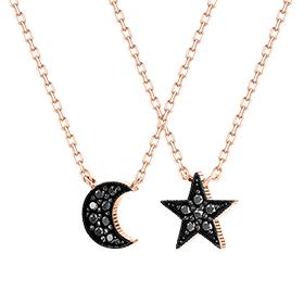 14K / 18K星光月光项链[两个家庭1]