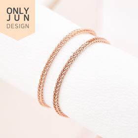 [豪华Junt价] 14K简易链式戒指